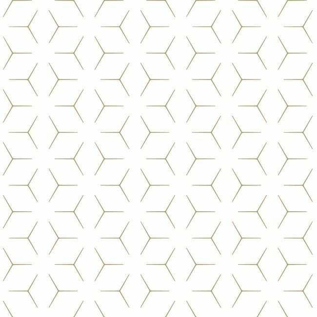 Tapeta papierowa Wandou biało-złota