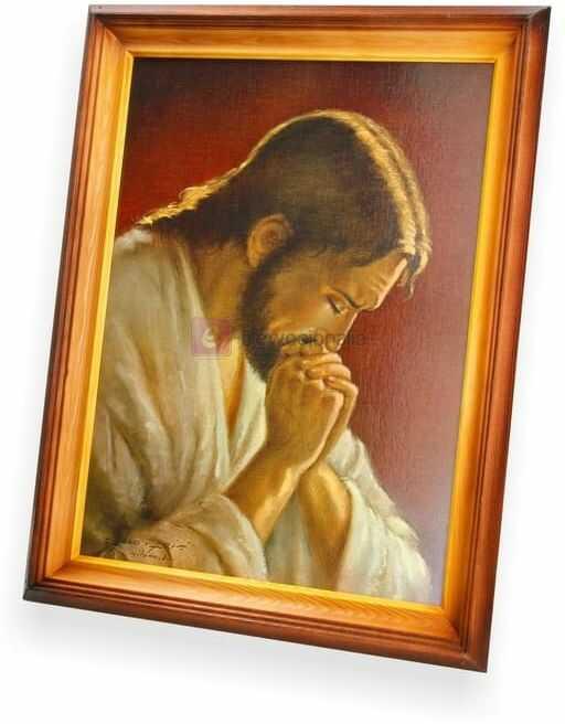 Obraz Jezus Chrystus w modlitwie - 47x37