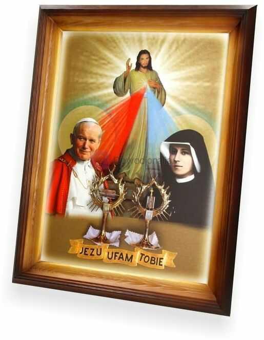 Obraz Jezu Ufam Tobie z relikwią- 47x37