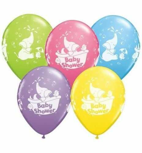 """Balon 11"""" z nadrukiem Baby Shower, mix kolorów"""