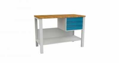 Stół warsztatowy roboczy metalowy z 3 szufladami STW 322