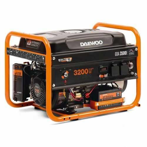 Agregat prądotwórczy DAEWOO GDA 3500E 3,2kW AVR 7,5KM rozruch elektryczny
