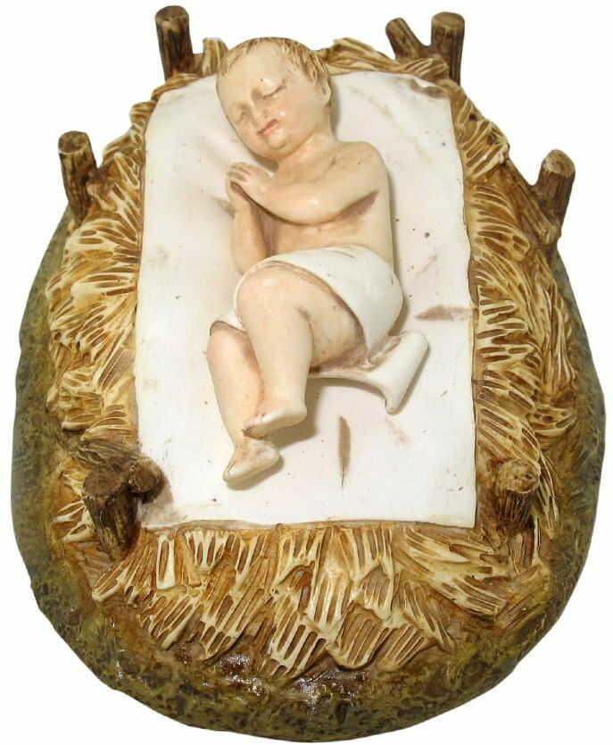 Figurka Dzieciątko Jezus w żłóbku