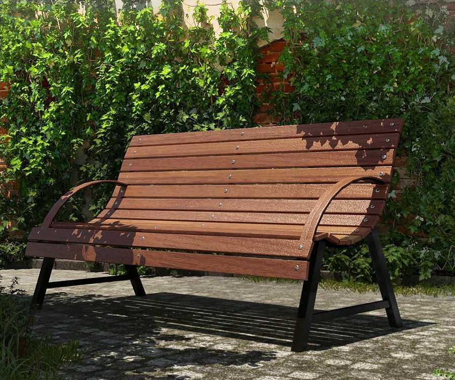 Drewniana ławka ogrodowa Wagris 130 cm - orzech