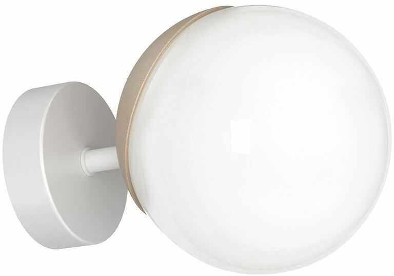 Milagro SFERA WOOD MLP5423 kinkiet lampa ścienna chrom klosz szklana kula 1xE14 15cm