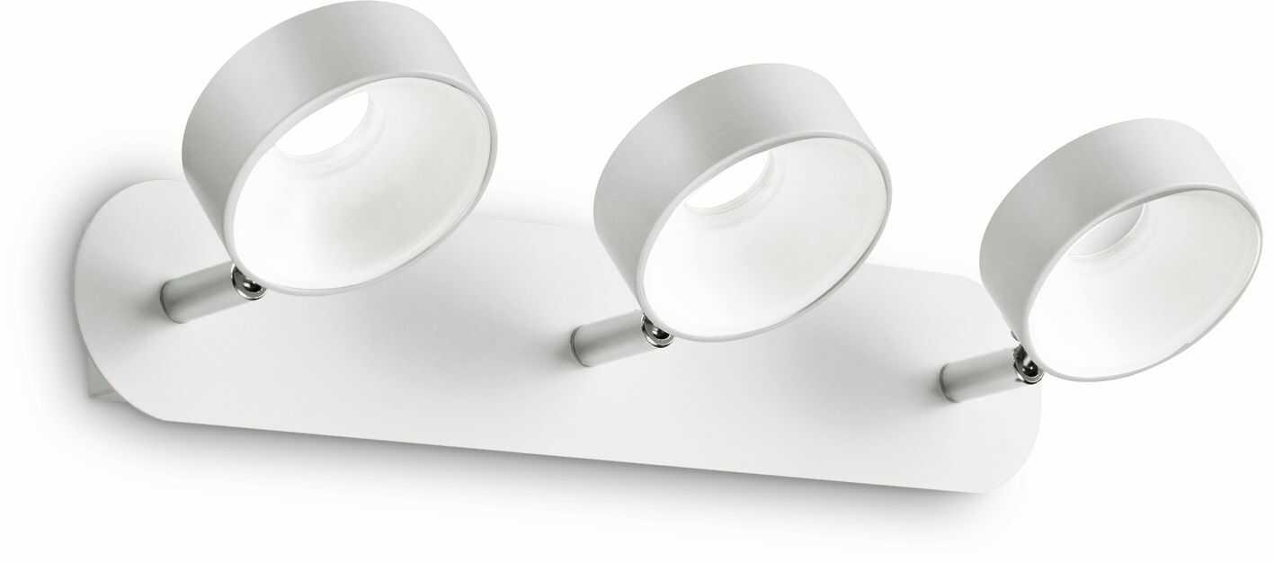 Plafon Oby PL3 196701 Ideal Lux biała lampa sufitowa