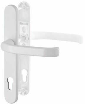 Klamka drzwiowa wewnętrzna DG58 na szyldzie 1/2 kpl - biel 216