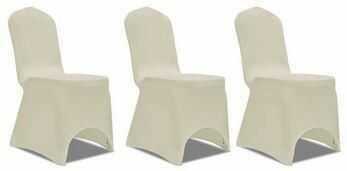 Pokrowce na krzesła ecru elastyczne beżowe