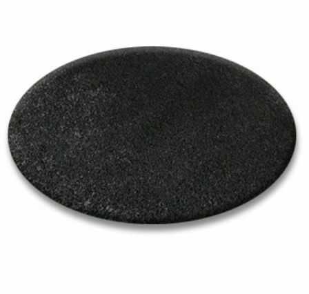 DYWAN koło SHAGGY 5cm czarny koło 100 cm