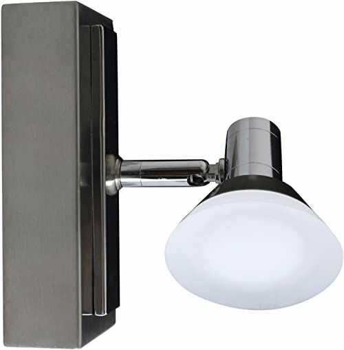 Näve Leuchten lampa sufitowa LED Jericho 1 żarówka, metal, chrom, 15 x 7,3 x 13,7 cm