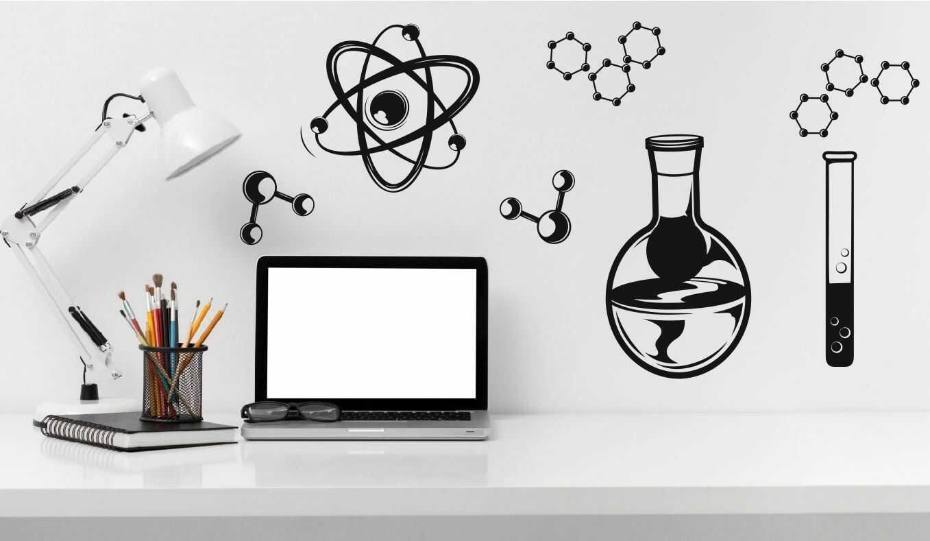 Zestaw naklejek chemicznych 2