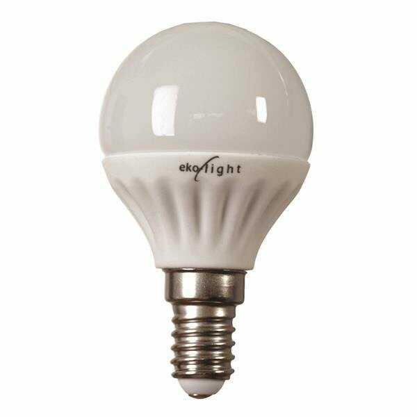 Żarówka LED 7W G45 E14 kulka barwa zimna 6000K EKZA5834