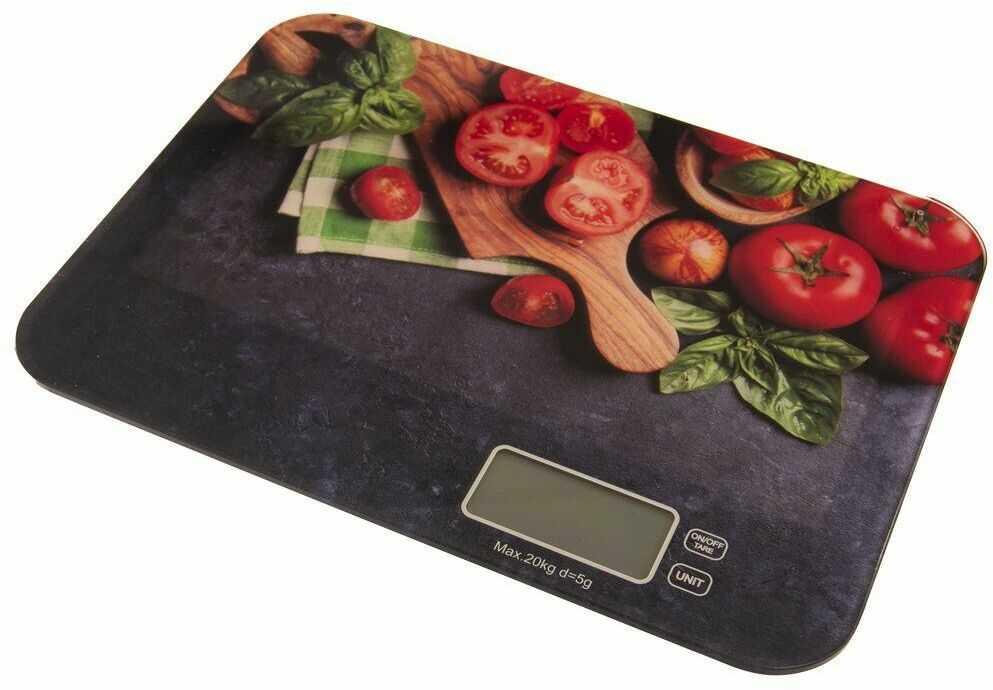 Waga kuchenna elektroniczna płaska szklana 20kg