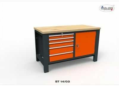 """Stół narzędziowy ST 14/03 """"DWÓJKA"""" do warsztatu metalowy na klucz"""