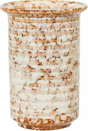Wazon bloomingville 14 cm brązowy kamionkowy