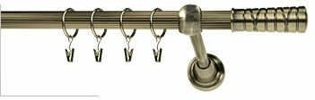 Karnisze Ryflowane Klasyczne TORINO RYFEL 16mm antyk mosiądz