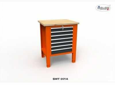 """Stół narzędziowy SWT 07/04 """"JEDYNKA"""" warsztat metalowy na klucz"""