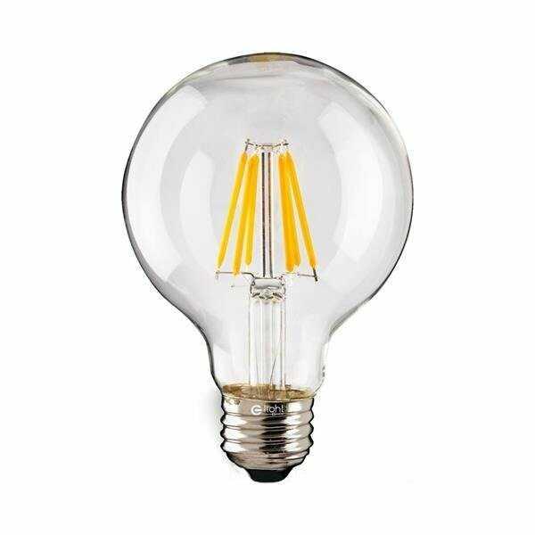 Żarówka FILAMENT LED 8W E27 G125 bańka ciepła 2700K