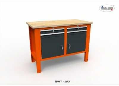 """Stół narzędziowy SWT 12/07 """"DWÓJKA"""" warsztat metalowy narzędzia"""