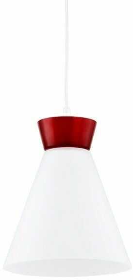 Nowoczesny lampa sufitowa RONI I czerwony śr. 23cm