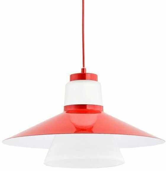 Nowoczesny lampa sufitowa MARVEL I czerwony śr. 40cm
