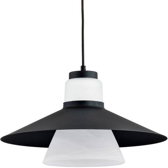 Nowoczesny lampa sufitowa MARVEL I czarny śr. 40cm