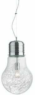 Lampa wisząca Luce Max SP1 Big 033662 Ideal Lux nowoczesna oprawa w kolorze aluminium