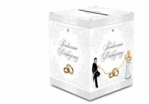 Pudełko weselne na koperty z życzeniami, prezentami 24x24x30cm KP2 PUDKLA