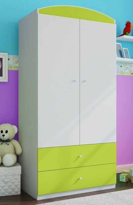 Szafa dwudrzwiowa dla dziecka Happy 3X - zielona