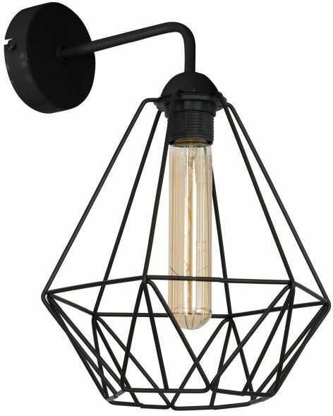 Kinkiet Luminex Basket New 1 x 60 W E27 black