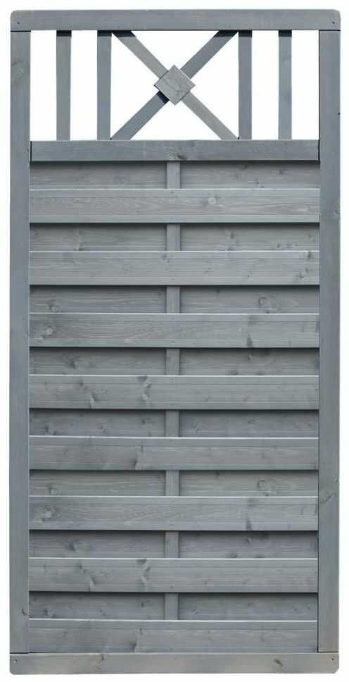 Płot szczelny z dekorem 90x180 cm drewniany PARMA WERTH-HOLZ