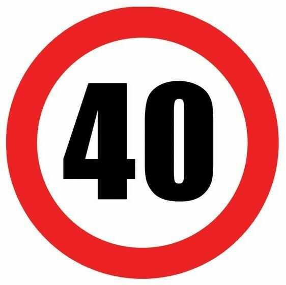 Talerzyki na 40 urodziny zakaz 18cm 6 sztuk TP18-ZAK40