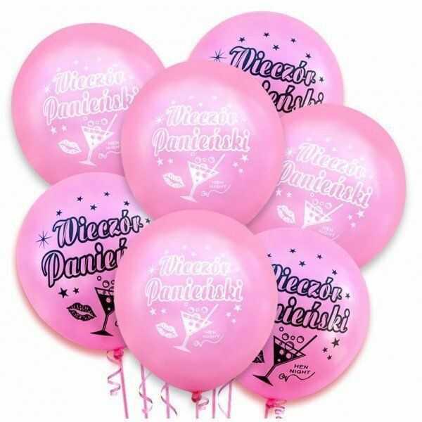 Balony na Wieczór Panieński różowe 20 sztuk ZB43
