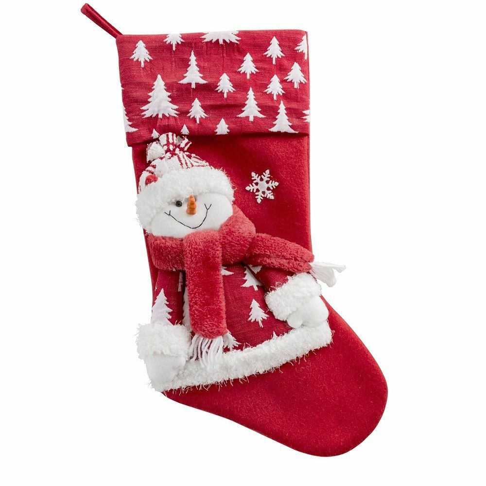 Ozdoba świąteczna Gelazy skarpeta but czerwona bałwanek choinki