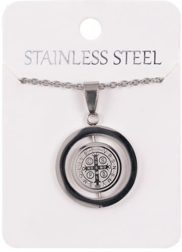 Naszyjnik z medalikiem Świętego Benedykta