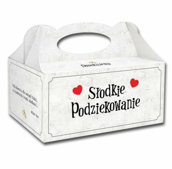 Pudełko na ciasto weselne Słodkie Podziękowanie 1 sztuka PUDSC-1x