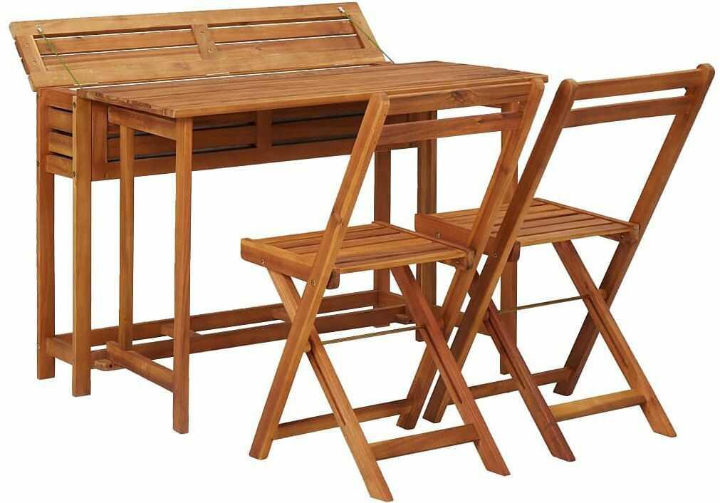 Zestaw drewnianych mebli ogrodowych - Folda