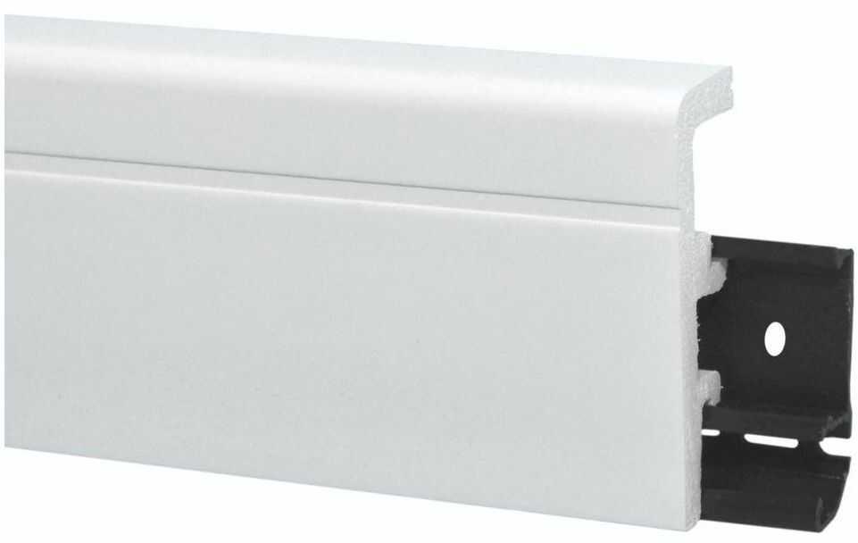 Listwa przypodłogowa pcv Vega P0811 80mm Biała Arbiton