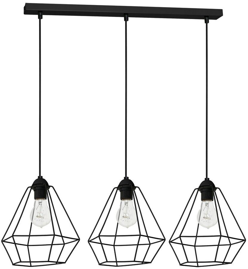 Lampa wisząca ALMA BLACK 3xE27