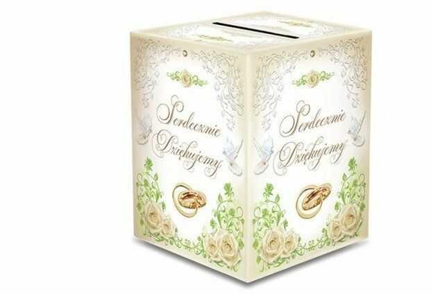 Pudełko weselne na koperty z życzeniami, prezentami 24x24x30cm KP3 PUDKOR