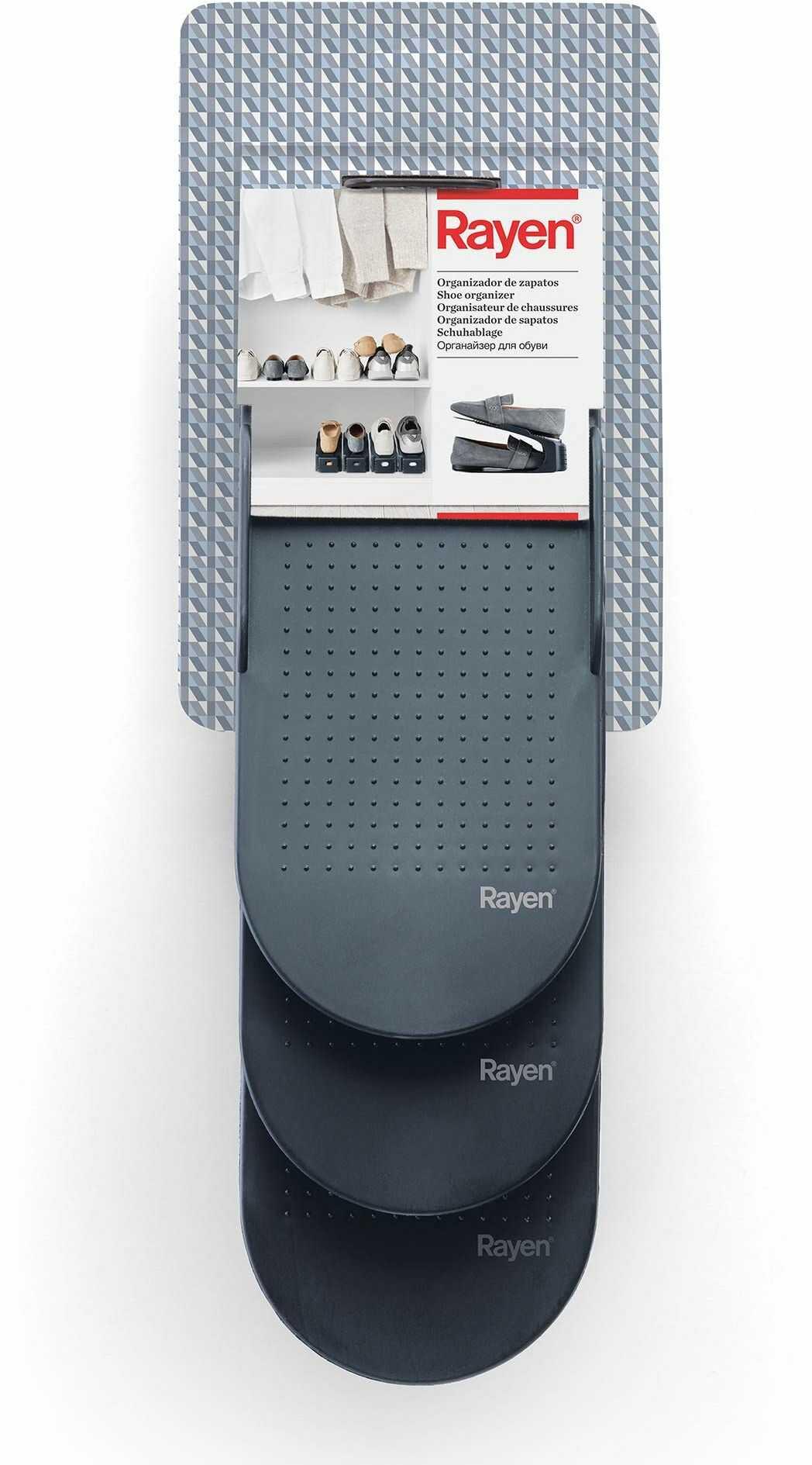 Rayen regał na buty, polipropylen, szary, 25 x 6,5 x 26 x 13 x 10 cm