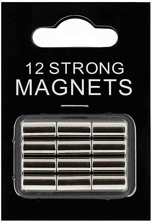 Deknudt Frames S65CD1 tablica magnetyczna i magnesy 0 x 0 12 super magnesów w kolorze srebrnym, na blistrze metalu, tablicy magnetycznej