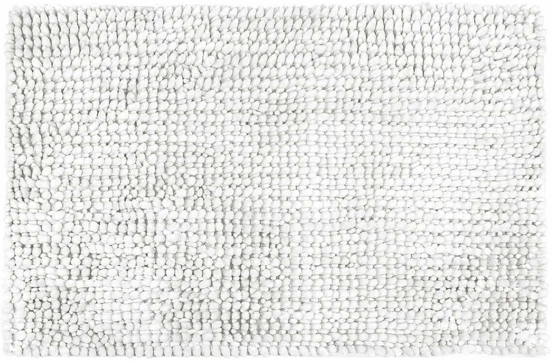 Mata łazienkowa Ella micro biała, 50 x 80 cm