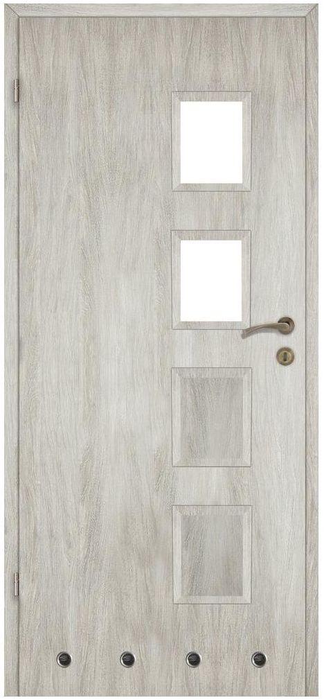 Skrzydło drzwiowe z tulejami wentylacyjnymi Alba Dąb silver 70 Lewe Artens