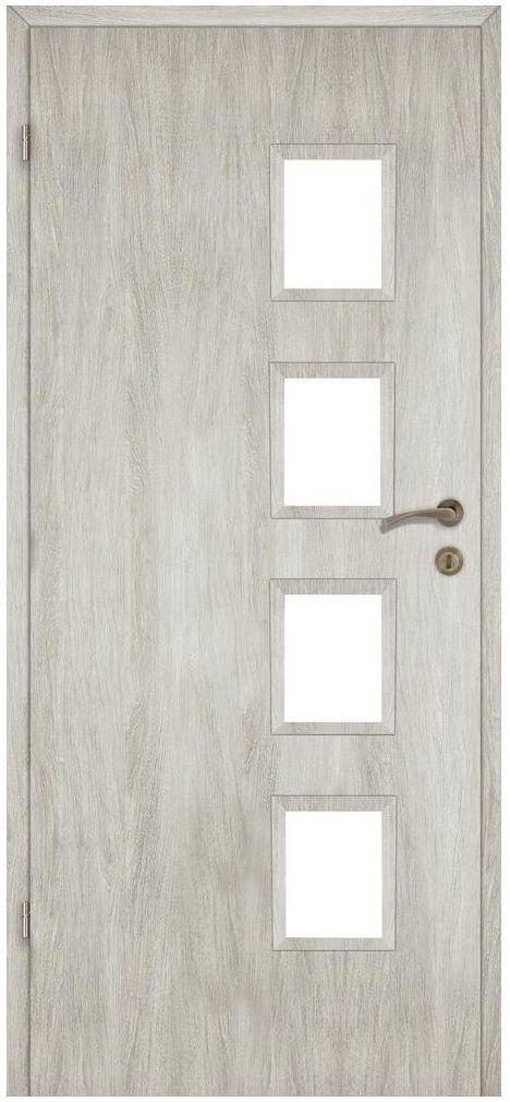 Skrzydło drzwiowe pokojowe Alba Dąb silver 80 Lewe Artens