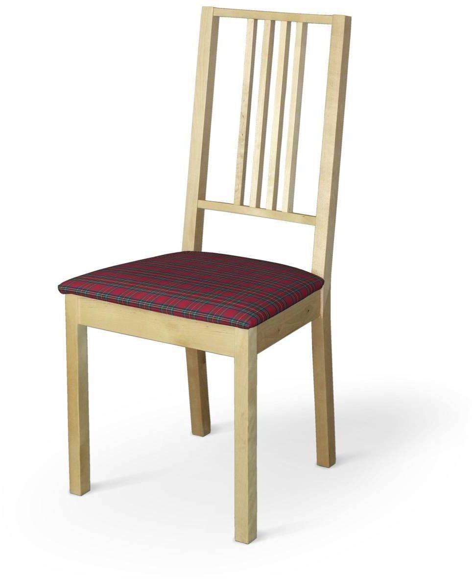 Pokrowiec na siedzisko Börje, czerwona kratka, siedzisko Börje, Bristol