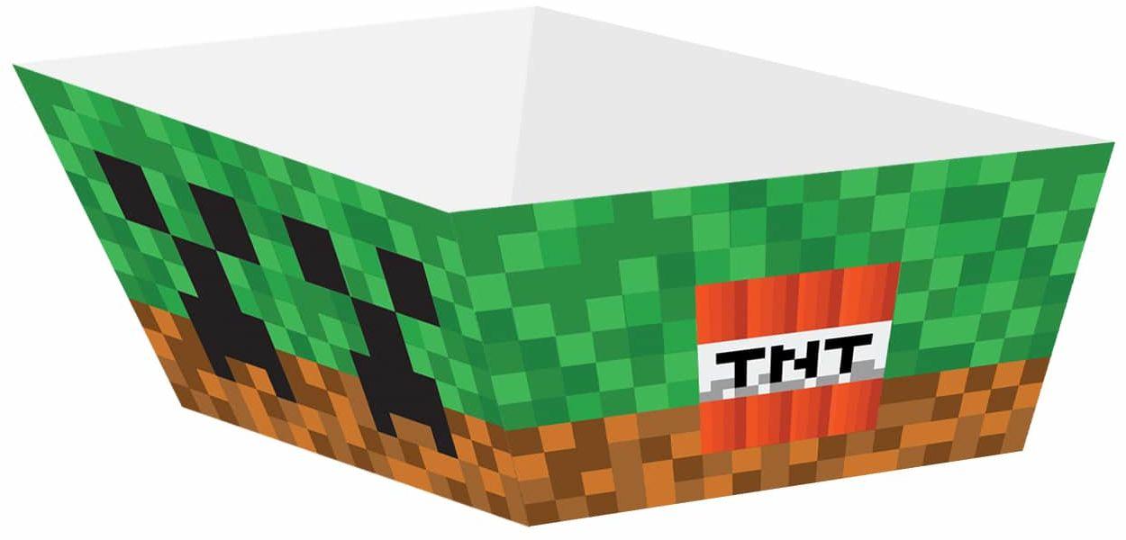 Pudełka na chipsy Piksele - 4 szt.