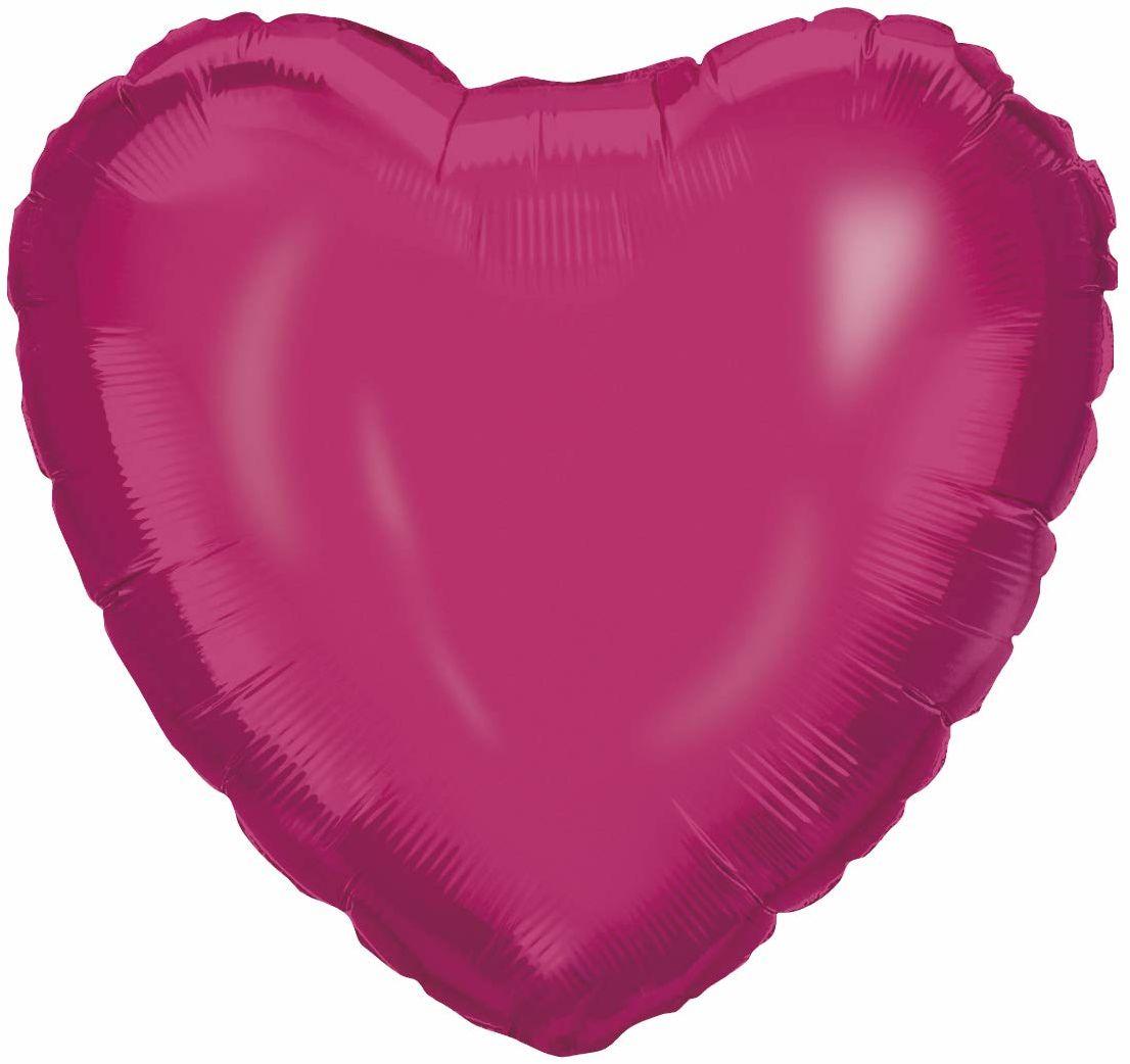 Procos 92459  balon foliowy serce, rozmiar 46 cm, różowy, hel, balon, urodziny, dekoracja, prezent
