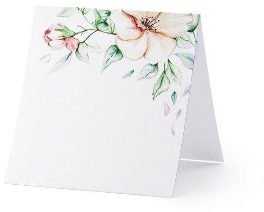 Wizytówki na stół Kwiaty 7x7,5cm 25 sztuk WS15