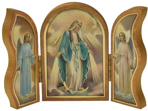 Tryptyk drewniany Matka Boża Niepokalna